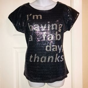 """FAB DAY"" SEQUIN Top, Madison & Berkeley XS"